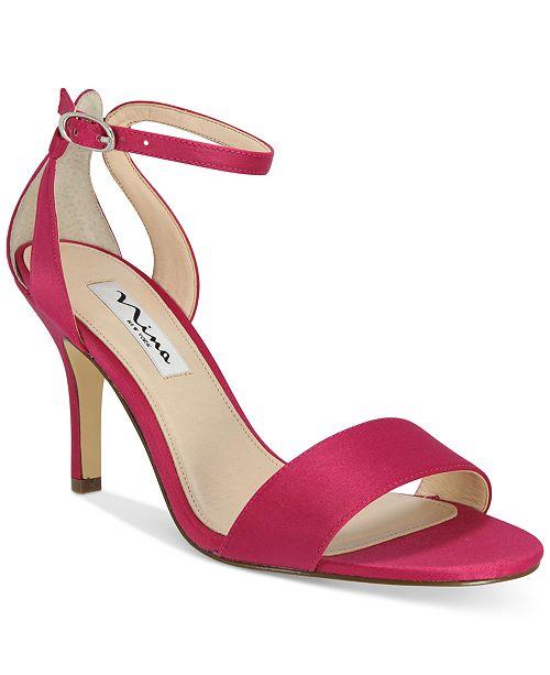 7e3a6dd54f5e Nina Venetia Ankle-Strap Evening Sandals   Reviews - Sandals   Flip ...