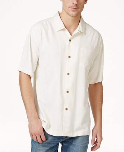 Tommy Bahama Men's Tiki Palms Silk Short-Sleeve Shirt, A Macy's ...