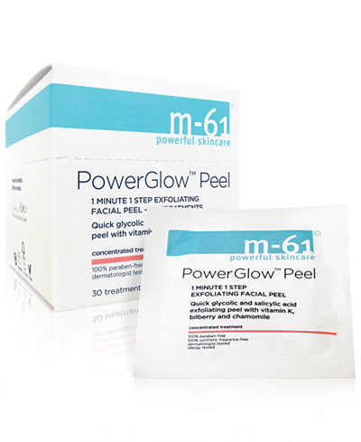 m-61 by Bluemercury PowerGlow Peel 1 Minute 1-Step Exfoliating Facial Peel – 60 Treatments