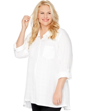 Motherhood Maternity Plus Size Button-Front Blouse plus size,  plus size fashion plus size appare
