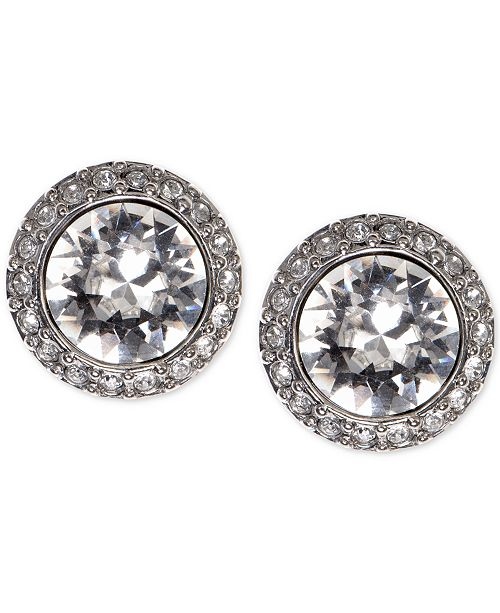 3b4f782a7 Givenchy Earrings, Silver-Tone Swarovski Element Stud Earrings ...
