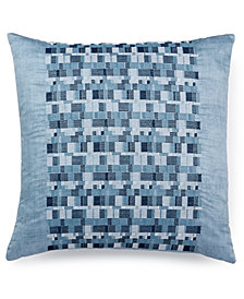 "Hotel Collection Colonnade Blue 18"" Square Decorative Pillow"