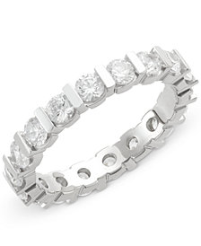 Diamond Bar Eternity Ring (2 ct. t.w.) in 14k White Gold