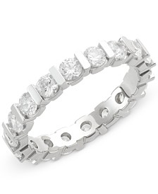 Diamond Bar Eternity Ring (2 ct. t.w.) in 14k White Gold
