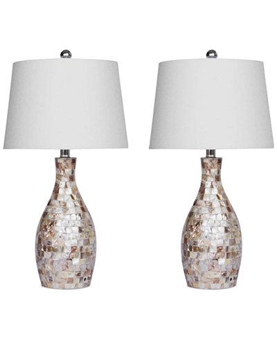 Abbyson Living Set of 2 Chantal Table Lamps