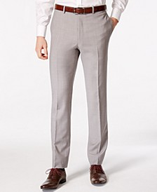 Men's Solid Classic-Fit Suit Pants