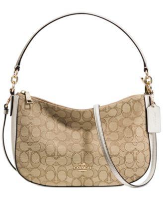 coach chelsea crossbody in signature jacquard handbags rh macys com