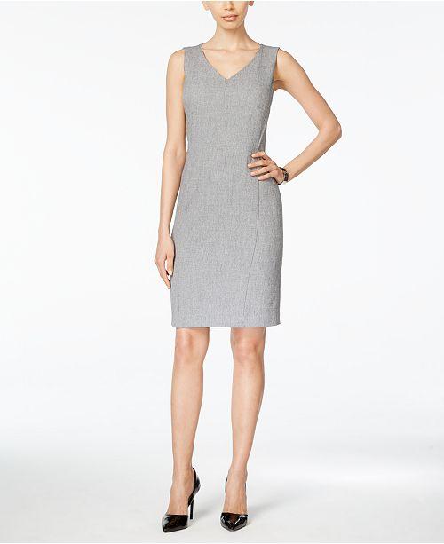 c97e55ad Kasper V-Neck Sheath Dress & Reviews - Dresses - Women - Macy's