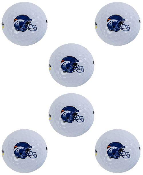 Wilson Sport Denver Broncos 6-Pack Golf Ball Set