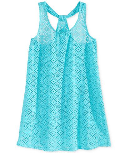 Breaking Waves Girls' Crochet Cover-Up