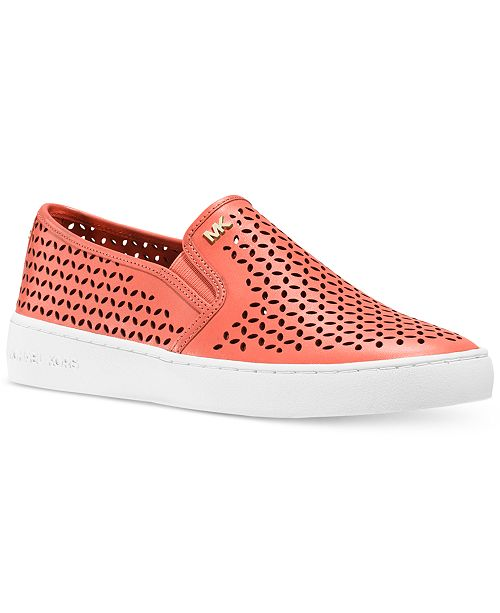 b02774c4 Michael Kors Olivia Perforated Slip-On Sneakers & Reviews - Athletic ...