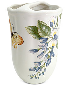 Lenox Blue Floral Garden Toothbrush Holder