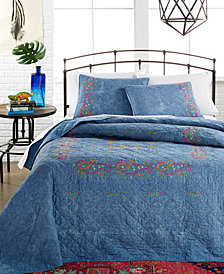 Kelly Denim Quilted Standard Sham