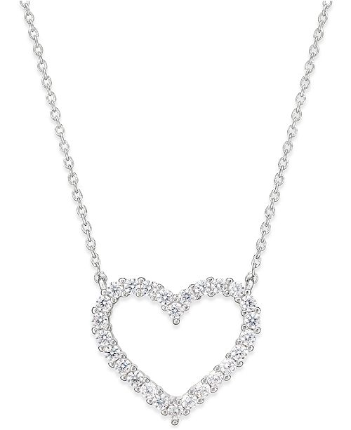 7d5eb874d1f ... Giani Bernini Cubic Zirconia Heart Pendant Necklace in Sterling Silver