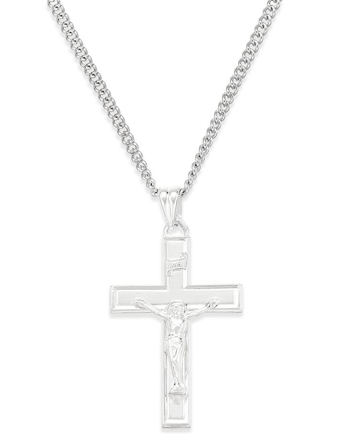Macy's - Crucifix Pendant Necklace in Sterling Silver