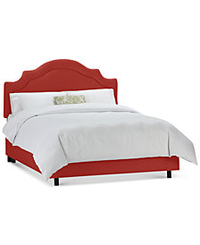 Jace Full Shirred Notch Bed, Quick Ship