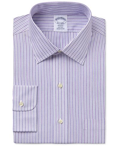 Brooks Brothers Men's Regent Classic-Fit Purple Striped Dress Shirt