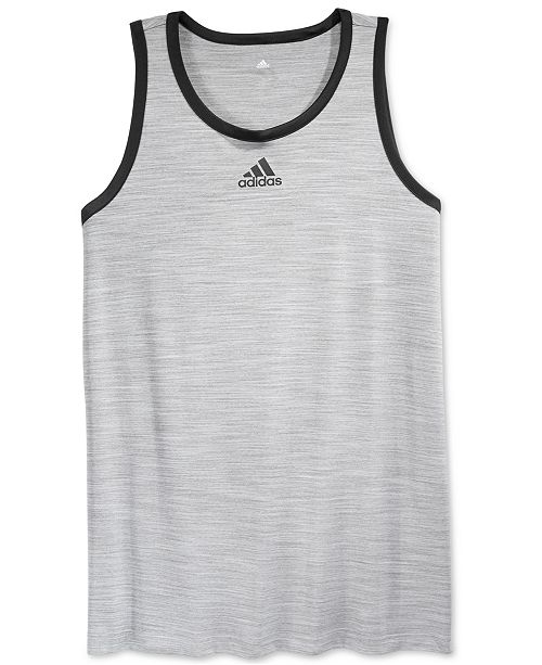 3fc76179669bb adidas Men s Heathered Tank Top   Reviews - T-Shirts - Men - Macy s