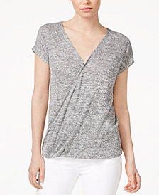 RACHEL Rachel Roy Cap-Sleeve Wrap T-Shirt