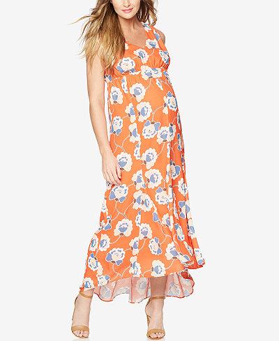 A Pea In The Pod Maternity Printed Maxi Dress