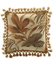 """Croscill Bali 18"""" x 18"""" Tassel-Trim Decorative Pillow"""