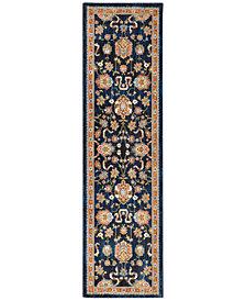 """Karastan Spice Market Zargos Sapphire 2'4"""" x 7'10"""" Runner Rug"""