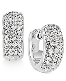 "Silver-Tone Pavé 1/2"" Small Hoop Earrings, Created for Macy's"