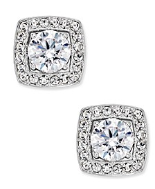 Silver-Tone Multi-Crystal Square Stud Earrings, Created for Macy's