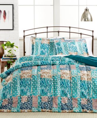 CLOSEOUT! Painted Patchwork 3-Pc. Comforter Set, Only at Macy #039;s