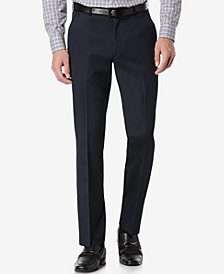 Perry Ellis Portfolio Slim Fit No-Iron Flat Front Dress Pants