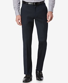 Perry Ellis Portfolio Slim Fit Flat Front No-Iron Dress Pants