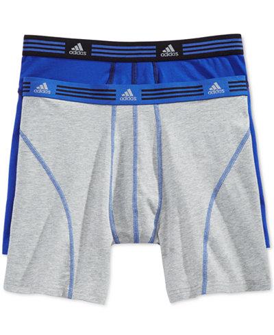 adidas Men's Athletic Stretch 2 Pack Boxer Brief
