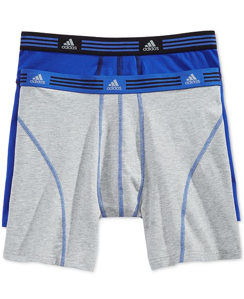 adidas Men's Athletic Stretch 2 Pack Boxer Brief