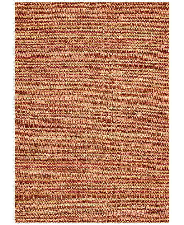 "D Style CLOSEOUT! Natural Jute Merlot 5' x 7'6"" Area Rug"