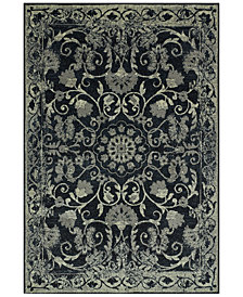 CLOSEOUT! D Style Menagerie MEN29 Black Area Rugs