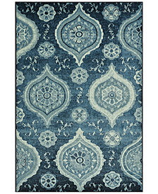"CLOSEOUT! D Style Menagerie MEN1548 Denim 3'3"" x 5'1"" Area Rug"