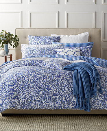 charter club damask designs paisley denim bedding collection only at macy 39 s bedding. Black Bedroom Furniture Sets. Home Design Ideas