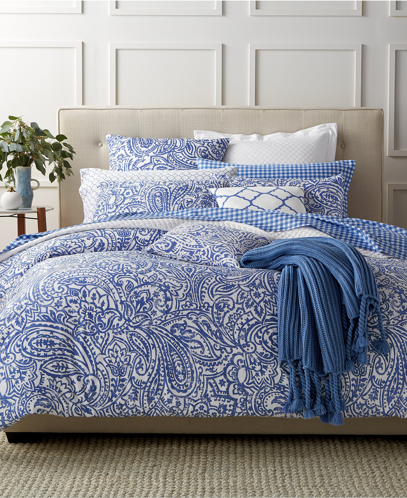 Blue bedspreads and comforters - Charter Club Damask Designs Paisley Denim Bedding Collection Only At Macy S