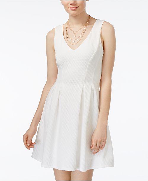 3b24e45ce93 Juniors  Sleeveless V-Neck Fit   Flare Dress. 3 reviews. main image  main  image ...