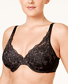 Playtex Love My Curves Side-Smoothing Embroidered Underwire Bra 4513