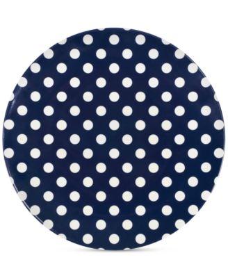 main image  sc 1 st  Macy\u0027s & kate spade new york Raise a Glass Collection Blue Polka Dot Dinner ...