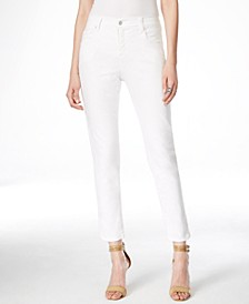 Zuma Cropped White Wash Jeans