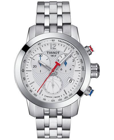 Tissot Women's Swiss Chronograph NBA PRC 200 Stainless Steel Bracelet Watch 35mm T0552171101700