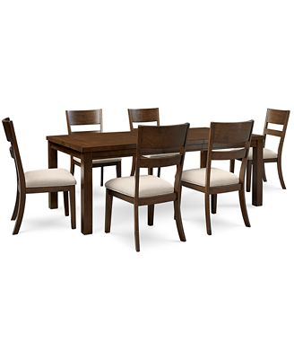 Chandler 7 Pc Dining Set Dining Table & 6 Side Chairs