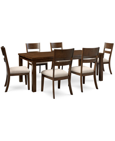 Chandler 7 Pc Dining Set Dining Table 6 Side Chairs Furniture Ma