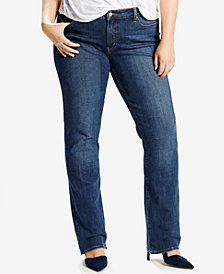 Levi's® Plus Size 414 Relaxed-Fit Straight-Leg Jeans