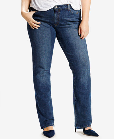 Plus Size Levi's 414 Relaxed Fit Straight-Leg Jeans  Oak Blues