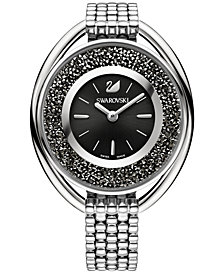Swarovski Women's Swiss Crystalline Crystal Accent Stainless Steel Mesh Bracelet Watch 43mm