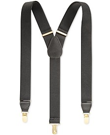 Club Room Men's Solid Suspenders, Created for Macy's