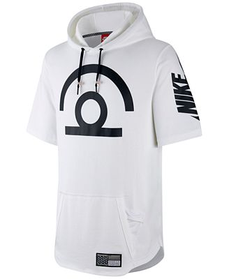 Nike Men's Air Pivot V3 Basketball Short-Sleeve Hoodie - Hoodies ...